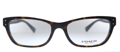 Coach HC 6082 5244 Rectangle Plastic Havana Eyeglasses with Demo Lens