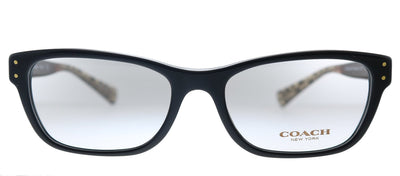 Coach HC 6082 5353 Rectangle Plastic Black Eyeglasses with Demo Lens