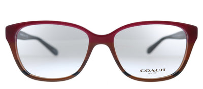 Coach HC 6103 5445 Square Plastic Burgundy Eyeglasses with Demo Lens
