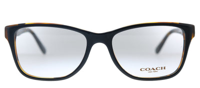 Coach HC 6129 5446 Rectangle Plastic Black Eyeglasses with Demo Lens