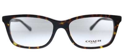 Coach HC 6136U 5120 Rectangle Plastic Havana Eyeglasses with Demo Lens