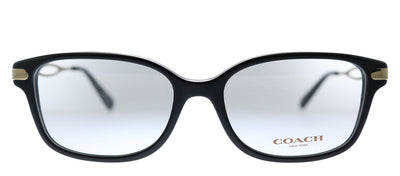 Coach HC 6172 5002 Square Plastic Black Eyeglasses with Demo Lens