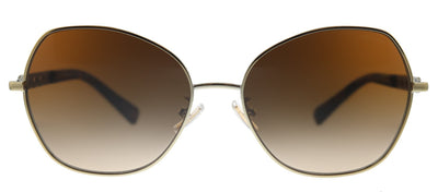 Coach L1130 HC 7112 900574 Butterfly Metal Gold Sunglasses with Brown Gradient Lens
