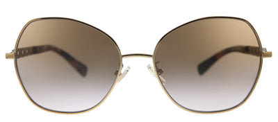 Coach L1130 HC 7112 933113 Butterfly Metal Pink Sunglasses with Brown Gradient Lens