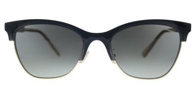 Coach L1113 HC 8277 556611 Square Plastic Black Sunglasses with Grey Gradient Lens