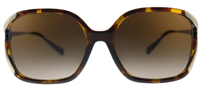 Coach L1116 HC 8280U 512013 Square Metal Havana Sunglasses with Brown Gradient Lens