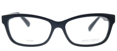Jimmy Choo JC 110 29A Rectangle Plastic Black Eyeglasses with Demo Lens