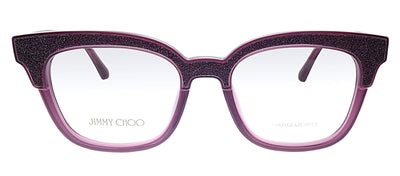 Jimmy Choo JC 176 197 Cat-Eye Plastic Purple Eyeglasses with Demo Lens