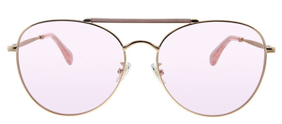 Jimmy Choo JC ABBIE/G/S W66 Q4 Pilot Metal Gold Sunglasses with Pink Lens