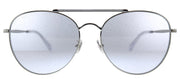 Jimmy Choo JC Abbie/G/S MXV Aviator Metal Silver Glitter Pearl Sunglasses with Grey Lens