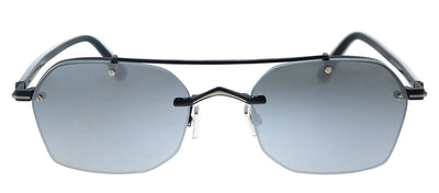 Jimmy Choo JC KIT/S 807 T4 Geometric Metal Black Sunglasses with Silver Lens