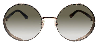 Jimmy Choo JC LILO/S DDB HA Oval Metal Gold Sunglasses with Brown Gradient Lens