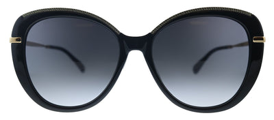 Jimmy Choo JC Phebe/F/S AE2 Oval Plastic Black Sunglasses with Grey Gradient Lens