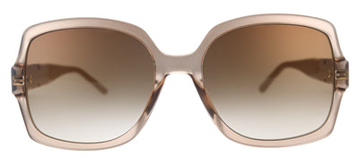 Jimmy Choo JC Sammi/G/S FWM Square Metal Nude Sunglasses with Brown Gradient Lens