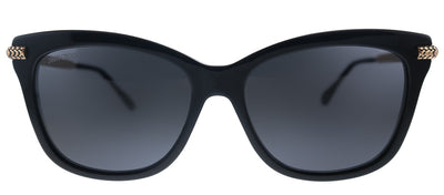 Jimmy Choo JC Shade/S 807 Cat-Eye Plastic Black Sunglasses with Grey Lens