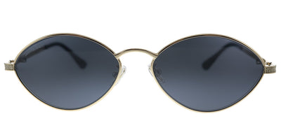 Jimmy Choo JC Sonny/S 2F7 Oval Metal Gold Sunglasses with Grey Lens