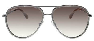 Jimmy Choo JC TRINY/S AVB NQ Pilot Metal Silver Sunglasses with Brown Mirror Lens