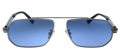 Jimmy Choo JC VIGGO/S GUA KU Pilot Metal Silver Sunglasses with Blue Lens