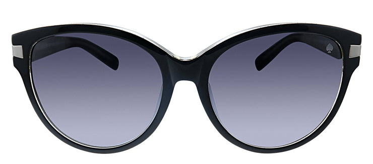 Kate Spade KS Ada/F/S PLT Cat-Eye Plastic Black Sunglasses with Grey Gradient Lens