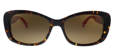 Kate Spade KS Claretta/P/S 0T4 Rectangle Plastic Havana Pink Sunglasses with Brown Polarized Lens