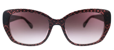 Kate Spade KS Kenzie/G/S 35J Rectangle Plastic Pink Sunglasses with Pink Gradient Lens