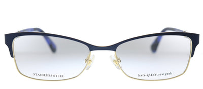 Kate Spade KS Laurianne U1F Rectangle Metal Matte Blue Havana Eyeglasses with Demo Lens