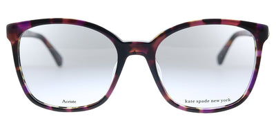 Kate Spade KS Maci HT8 Square Plastic Pink Havana Eyeglasses with Demo Lens