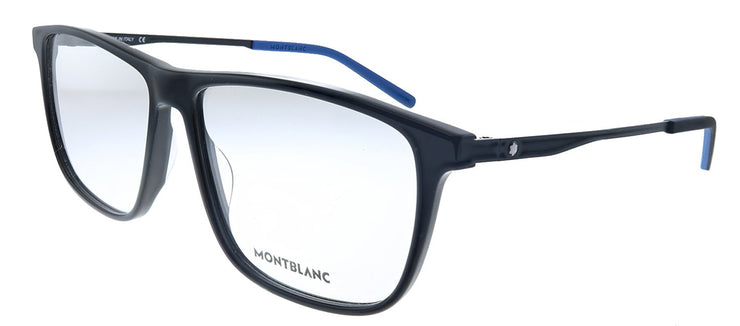 MontBlanc MB 0121O 001 Rectangle Metal Black Eyeglasses with Demo Lens