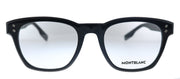 Mont Blanc MB 0122O 001 Rectangle Plastic Black Eyeglasses with Demo Lens