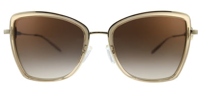 Michael Kors MK 1067B 101813 Butterfly Metal Gold Sunglasses with Brown Gradient Lens