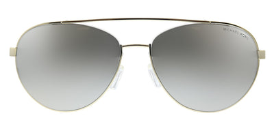 Michael Kors Aventura MK 1071 10146G Aviator Metal Gold Sunglasses with Silver Mirror Lens