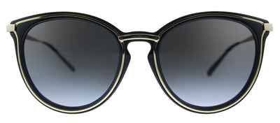 Michael Kors Brisbane MK 1077 10148G Round Metal Black Sunglasses with Black Gradient Lens