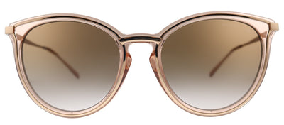 Michael Kors Brisbane MK 1077 110813 Round Metal Gold Sunglasses with Pink Gradient Lens