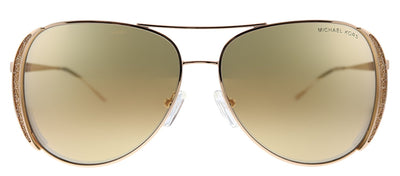 Michael Kors Chelsea Glam MK 1082 1108R1 Aviator Metal Rose Gold Sunglasses with Gold Mirror Lens