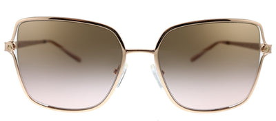 Michael Kors Cancun MK 1087 110811 Square Plastic Gold Sunglasses with Pink Gradient Lens
