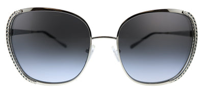 Michael Kors Amsterdam MK 1090 11538G Square Plastic Silver Sunglasses with Grey Gradient Lens