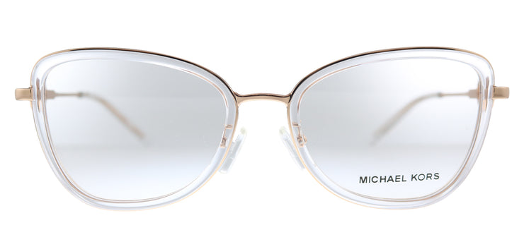Michael Kors Florence MK 3042B 1108 Butterfly Metal Pink Eyeglasses with Demo Lens