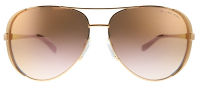 Michael Kors Chelsea MK 5004 11086F Aviator Metal Pink Sunglasses with Pink Gradient Lens