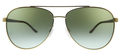 Michael Kors Hvar MK 5007 10432L Aviator Metal Gold Sunglasses with Green Gradient Lens
