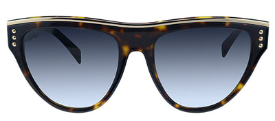 Moschino MOS 002S 086 9O Geometric Plastic Havana Sunglasses with Grey Gradient Lens