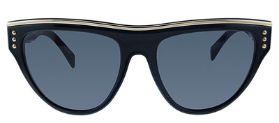 Moschino MOS 002S 807 IR Geometric Plastic Black Sunglasses with Grey Polarized Lens