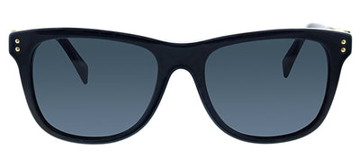 Moschino MOS 003S 807 IR Rectangle Plastic Black Sunglasses with Grey Lens