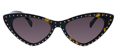 Moschino MOS 006S 086 K2 Oval Plastic Havana Sunglasses with Purple Lens