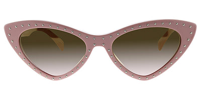 Moschino MOS 006S 35J 53 Oval Plastic Pink Sunglasses with Brown Gradient Lens
