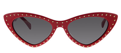 Moschino MOS 006S C9A IR Oval Plastic Red Sunglasses with Grey Polarized Lens