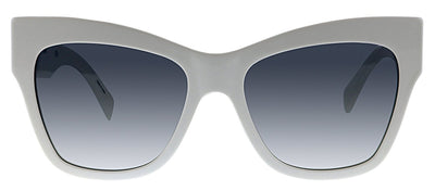 Moschino MOS 011S VK6 9O Cat-Eye Plastic White Sunglasses with Grey Gradient Lens