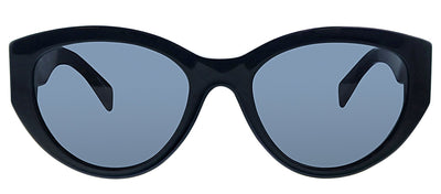 Moschino MOS 012S 807 IR Oval Plastic Black Sunglasses with Grey Lens
