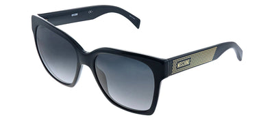 Moschino MOS 015S 807 9O Square Plastic Black Sunglasses with Grey Gradient Lens