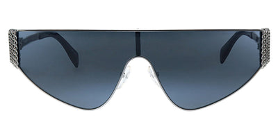 Moschino MOS 022S 6LB IR Shield Metal Ruthenium Sunglasses with Grey Lens