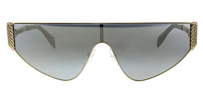 Moschino MOS 022S J5G UE Shield Metal Gold Sunglasses with Grey Mirror Lens